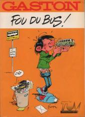 Gaston (Hors-série) -FB14- Fou du bus - TUM - Transports Urbains de Menton