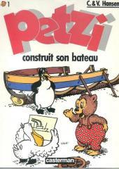 Petzi (Seconde série) -1- Petzi construit son bateau