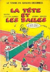 Le tennis en bandes dessinées - La tête et les balles