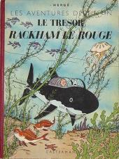 Tintin (Historique) -12B01'- Le trésor de Rackham Le Rouge