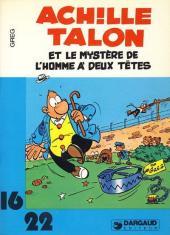 Achille Talon (16/22) -967- Et le mystère de l'homme à deux têtes