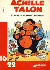 Achille Talon (16/22) -1077- Et le quadrumane optimiste