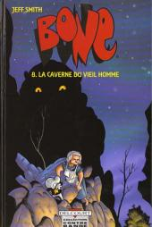 Bone (Smith, chez Delcourt, en noir et blanc) -8- La caverne du vieil homme