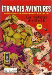 Étranges aventures (1re série - Arédit) -36- Le retour de Hulk