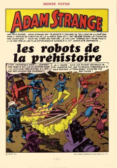 Extrait de Adam Strange -5- Les robots de la préhistoire