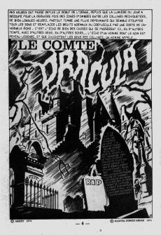Extrait de Dracula (Aredit - Comics Pocket) -1- Le comte Dracula