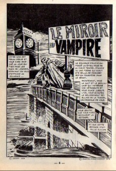 Extrait de Dracula (Aredit - Comics Pocket) -3- Le miroir du vampire