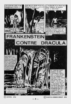 Extrait de Frankenstein (Arédit - Comics Pocket) -4- Frankenstein contre Dracula