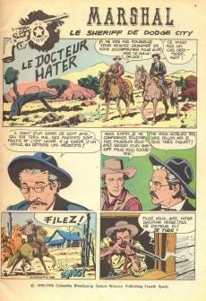 Extrait de Marshal, le shérif de Dodge city -11- Le Docteur Hater