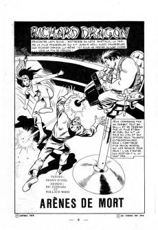 Extrait de Richard Dragon - Combattant du Kung-Fu (Arédit) -4- Arènes de mort