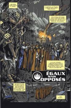 Extrait de Star wars - La saga en BD (hors série) -1A- Égaux... mais opposés - De l'ombre à la lumière - La Mort de Tag & Bink - Dark Vador : la Conscience du Seigneur Noir