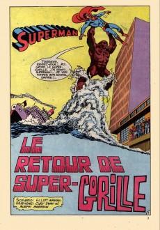 Extrait de Superman Bimestriel (Sagédition) -2- Le retour de super-gorille