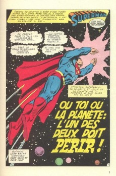 Extrait de Superman (Poche) (Sagédition) -77- Ou toi ou la planète : l'un des deux doit périr !