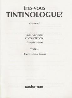 Extrait de Tintin - Divers -41a- Êtes-vous tintinologue ? (2)