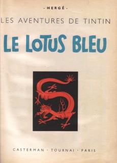 Extrait de Tintin (Historique) -5B02- Le lotus bleu