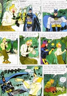Extrait de Tintin - Pastiches, parodies & pirates -Pir- Tintin contre Batman