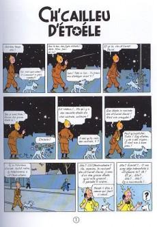 Extrait de Tintin (en langues régionales) -10Picard- Ch'cailleu d'étoéle