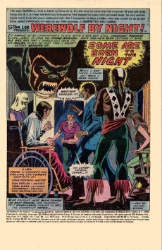 Extrait de Werewolf by Night Vol.1 (Marvel - 1972) -39- Some are born to the night