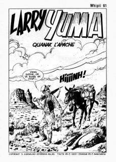 Extrait de Whipii ! (Panter Black, Whipee ! puis) -61- Larry Yuma - Quanak l'apache