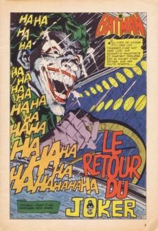 Extrait de Batman Bimestriel (Sagédition) -1- Le retour du Joker