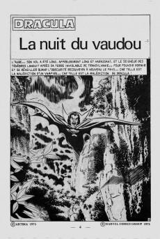 Extrait de Dracula (Aredit - Comics Pocket) -8- La nuit du vaudou