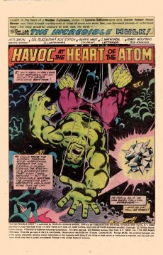 Extrait de Incredible Hulk (The) (1968) -202- Havoc at the heart of the atom!!