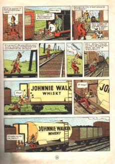 Extrait de Tintin (Historique) -7B27Bis- L'île noire