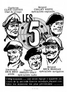 Extrait de Les 5 As -1- Cinq hommes, une seule équipe