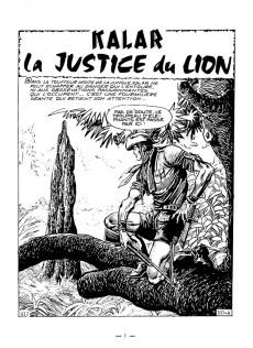 Extrait de Kalar -12- La justice du lion