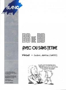 Extrait de BB de BD -2- Avec ou sans tétine