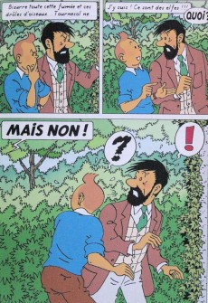 Extrait de Tintin - Pastiches, parodies & pirates -TT- Les Elfes de Moulinsart
