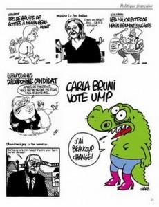 Extrait de Charlie Hebdo - Une année de dessins -2009- Plus belle la crise !