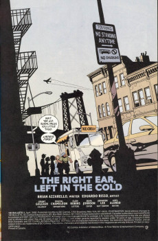 Extrait de 100 Bullets (1999) -9- The right ear, left in the cold (1)