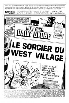 Extrait de Docteur Strange (Éditions Héritage) -1920- Le Sorcier du West Village