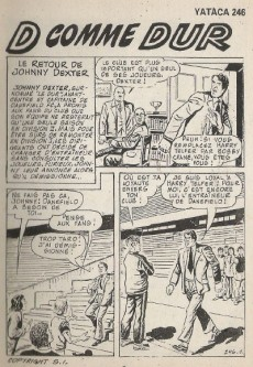 Extrait de Yataca (Fils-du-Soleil) -246- Le retour de Johnny Dexter