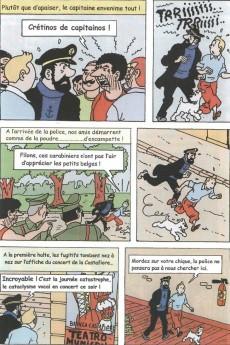 Extrait de Tintin - Pastiches, parodies & pirates -PIR- Tintin et les oranges bleues (version couleur)
