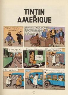 Extrait de Tintin (Historique) -3B40- Tintin en Amérique