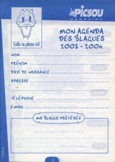 Extrait de Picsou Magazine -HS2- Agenda des blagues 2003/2004