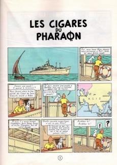 Extrait de Tintin (Historique) -4B39- Les cigares du pharaon