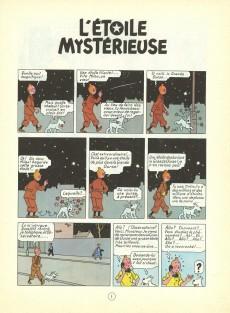 Extrait de Tintin (Historique) -10B35- L'étoile mystérieuse