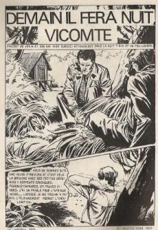 Extrait de Le vicomte (Comics Pocket) -8- Demain il fera nuit, Vicomte