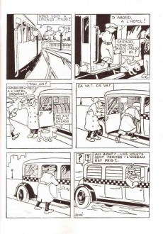 Extrait de Tintin (Fac-similé N&B) -3PF- Tintin en amérique