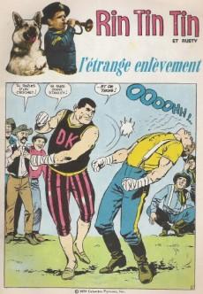 Extrait de Rin Tin Tin & Rusty (2e série) -110- L'étrange enlèvement