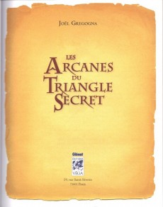 Extrait de Le triangle Secret -HS4- Les arcanes du triangle secret