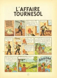 Extrait de Tintin (Historique) -18B37Bis- L'affaire Tournesol