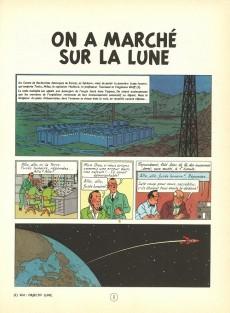 Extrait de Tintin (Historique) -17B38- On a marché sur la Lune