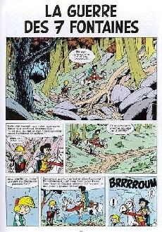 Extrait de Johan et Pirlouit -10c84- La guerre des 7 fontaines