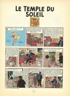 Extrait de Tintin (Historique) -14B36- Le temple du soleil