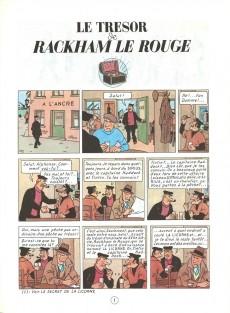 Extrait de Tintin (Historique) -12C4- Le trésor de Rackham Le Rouge