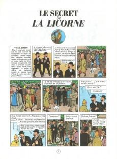 Extrait de Tintin (Historique) -11C4- Le Secret de la Licorne